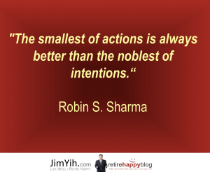 Small actions vs big intentions